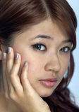 Young Asian Woman. Face expression Royalty Free Stock Photos