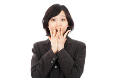 Young asian woman amazing Stock Images