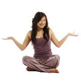Young asian woman with arms out Royalty Free Stock Images
