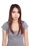 Young Asian woman in bad mood Stock Photo