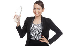 Young Asian woman with a bottle of drinking water Stock Photo