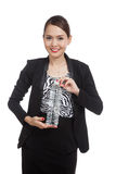 Young Asian woman with a bottle of drinking water Stock Photography
