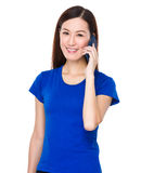 Young asian woman chat with mobile phone Royalty Free Stock Image