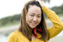 Young Asian woman (close-up) Royalty Free Stock Photo
