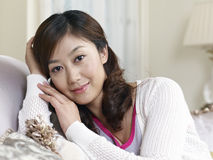 Young asian woman. Close-up portrait of a young asian woman Royalty Free Stock Images