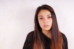 Young asian woman cries Stock Photos