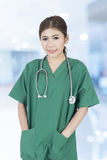 Young Asian woman doctor Royalty Free Stock Images