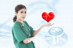 Young Asian woman doctor Royalty Free Stock Image