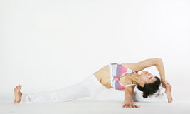 Young asian woman doing YOGA Stock Photography