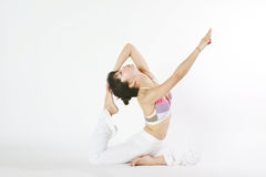 Young asian woman doing YOGA Royalty Free Stock Photo