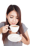 Young Asian woman drinking coffee Royalty Free Stock Photos