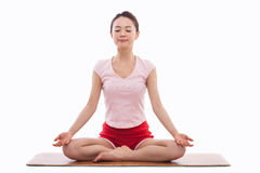 Young Asian woman  exercise yoga Stock Photos