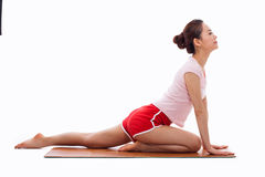 Young Asian woman  exercise yoga Stock Photo
