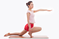 Young Asian woman  exercise yoga Stock Image