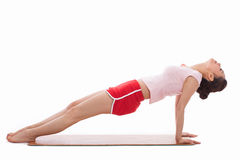 Young Asian woman  exercise yoga Stock Images