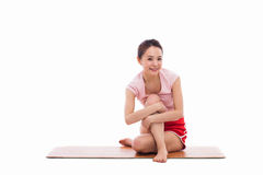 Young Asian woman  exercise yoga Royalty Free Stock Images