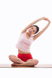 Young Asian woman  exercise yoga Stock Photography