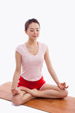Young Asian woman  exercise yoga Royalty Free Stock Photo