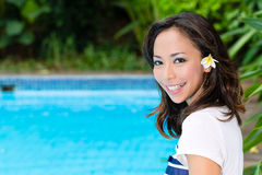 Young Asian woman in exotic environment Stock Photography