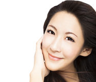 young asian Woman face Royalty Free Stock Images