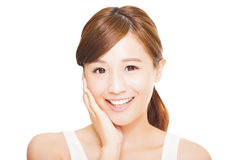 young asian woman face Stock Images