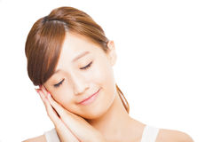 Young asian woman face Royalty Free Stock Photo