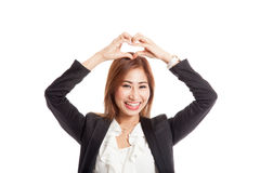 Young Asian woman gesturing  heart hand sign Royalty Free Stock Photos
