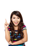 Young asian woman get an inspiration Royalty Free Stock Images