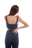 Young Asian woman got back pain. Royalty Free Stock Images