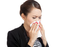 Young Asian woman got sick and flu Stock Photography