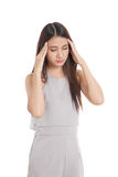 Young Asian woman got sick and headache Stock Images