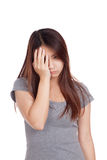 Young Asian woman got sick Royalty Free Stock Photo