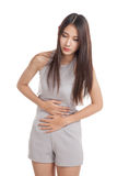 Young Asian woman got stomachache Royalty Free Stock Photos