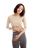 Young Asian woman got stomachache Stock Photography