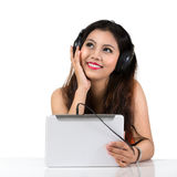 Young asian woman with headphones Stock Photography