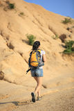 Young asian woman hiker outdoor Stock Photos