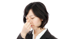 Young asian woman hold the tears Stock Photo