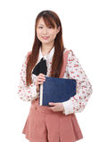 Young asian woman holding a book Royalty Free Stock Photo