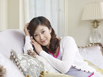 Young asian woman. Home portrait of a young asian woman Stock Photo