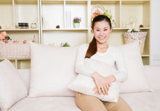 Young asian woman at home Royalty Free Stock Photography