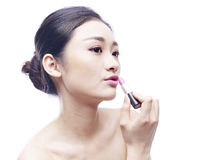 Young asian woman with lipstick Royalty Free Stock Photo