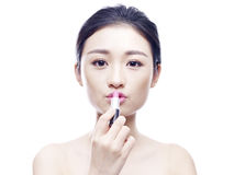 Young asian woman with lipstick Stock Photo