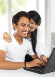 Young asian woman and man Stock Photography