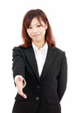 Young Asian Woman Offering You Handshake Stock Photos