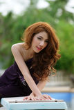 Young Asian woman outdoor portrait Stock Photo
