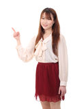 Young asian woman pointing Stock Photos