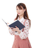 Young asian woman reading book Royalty Free Stock Image