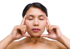 Young Asian woman in relaxation Royalty Free Stock Photography