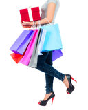 Young asian woman with shopping bags Stock Photo