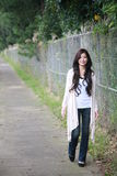 Young asian woman smiles Royalty Free Stock Image